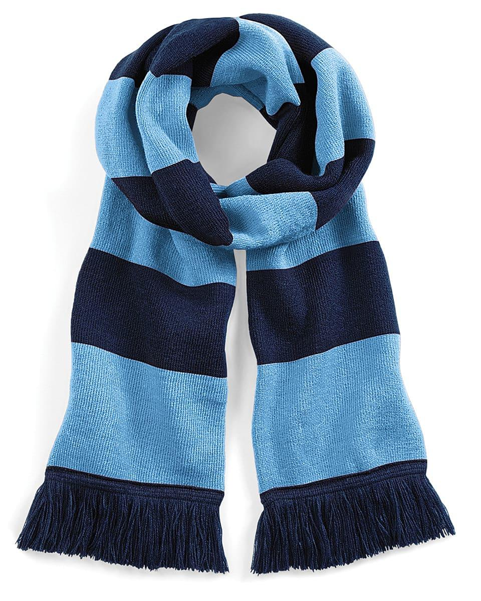 Beechfield Varsity Scarf in French Navy / Sky Blue (Product Code: B479)