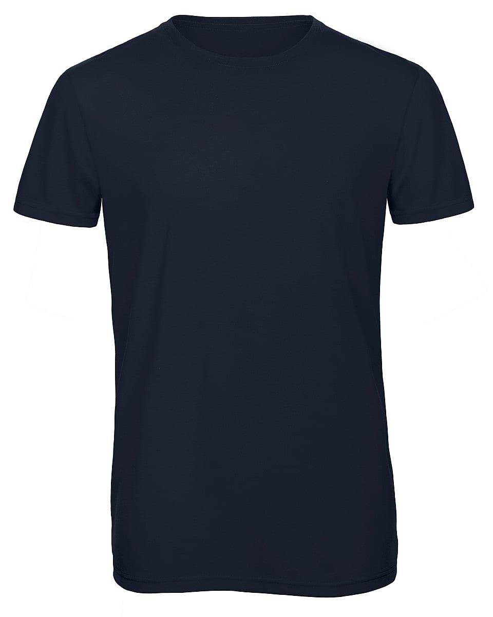 B&C Mens Inspire Triblend T-Shirt in Navy Blue (Product Code: TM055)