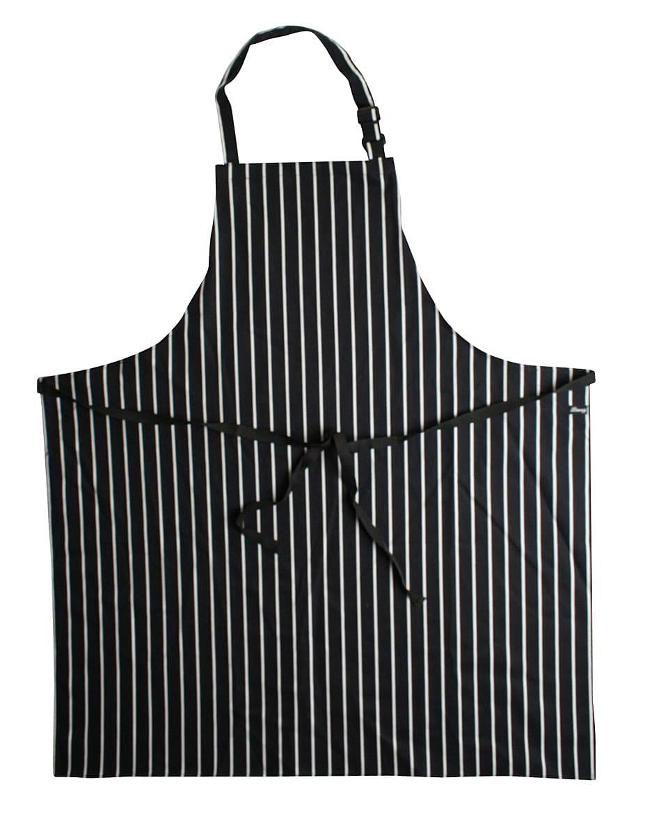 Dennys Cotton Striped Butchers Apron in Black / White (Product Code: DP85)