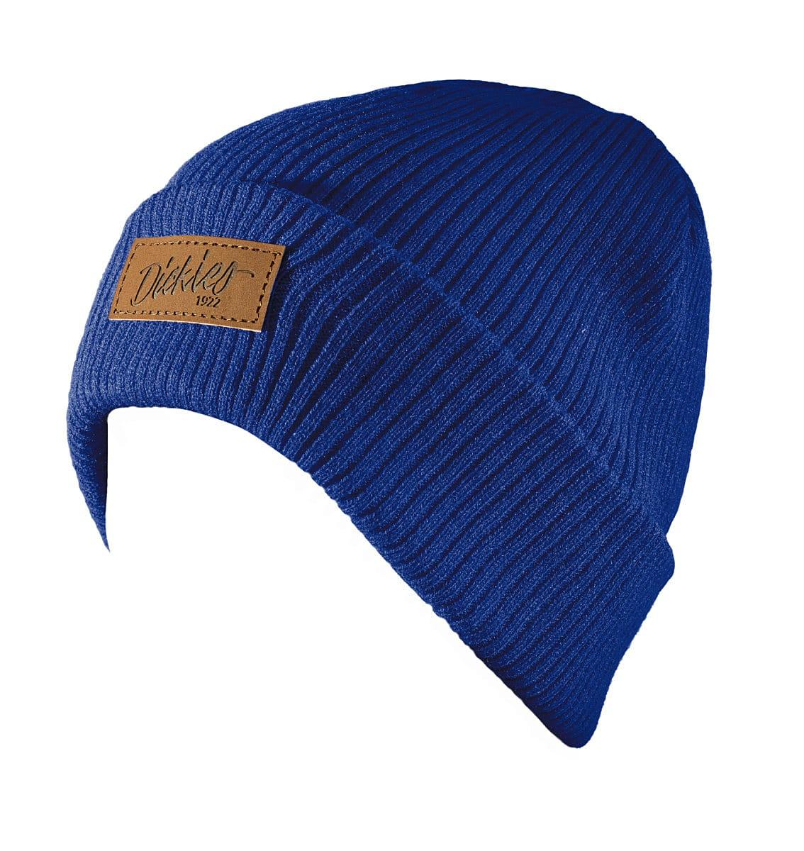 Dickies Evadale Branded Beanie Hat in Royal Blue (Product Code: DT8003)