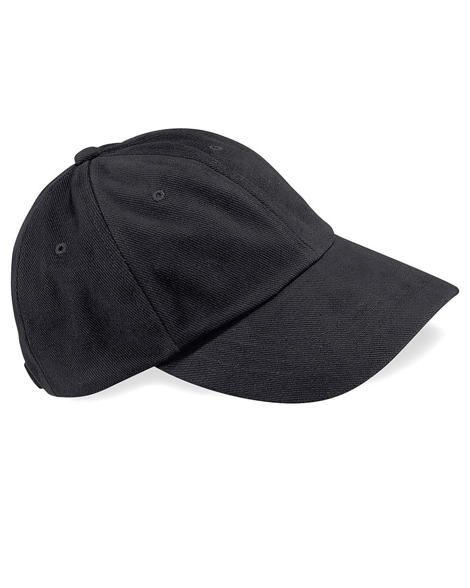 Beechfield LP Heavy Brushed Cotton Cap in Black (Product Code: B57)
