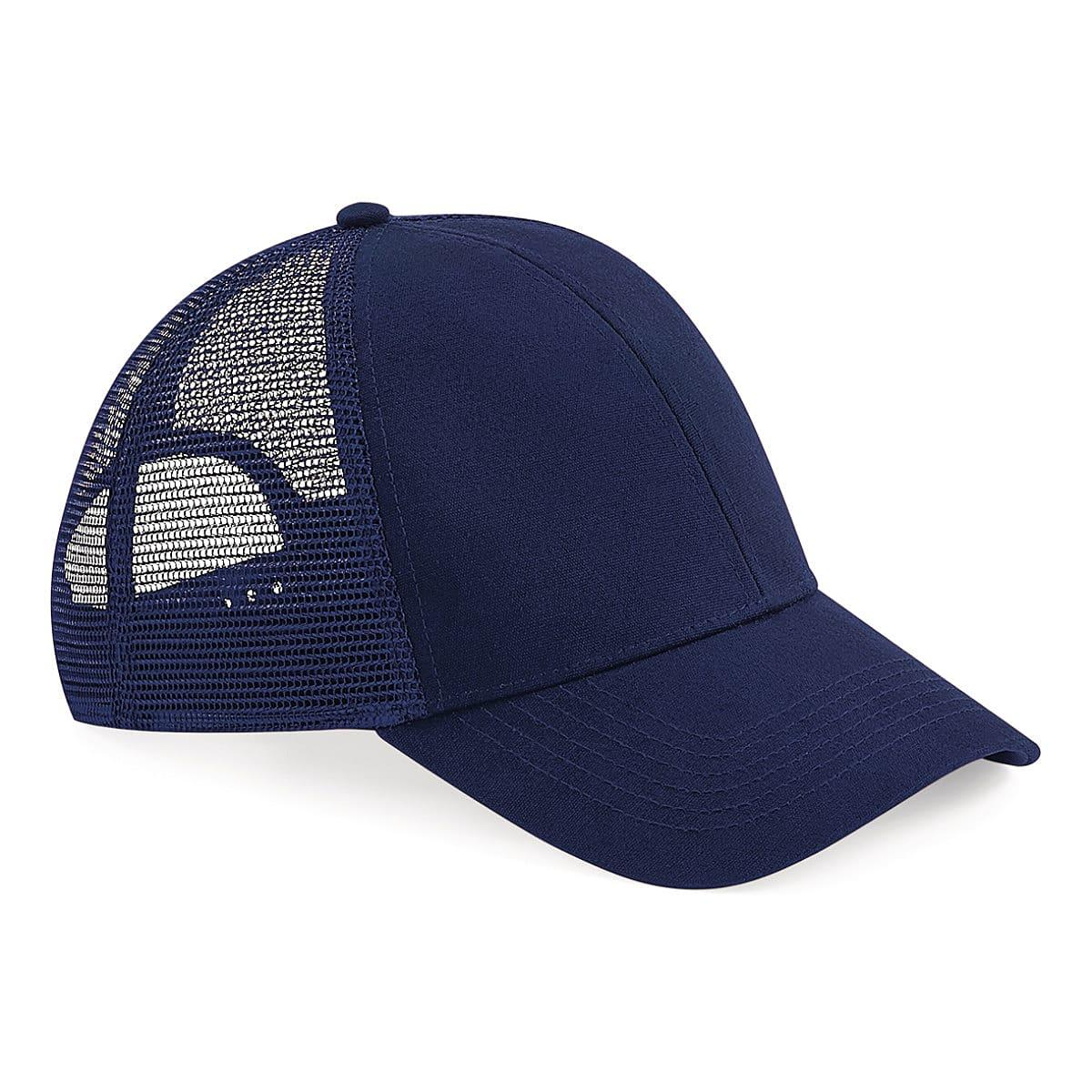 Beechfield Organic Cotton Trucker Cap in Oxford Navy (Product Code: B60)