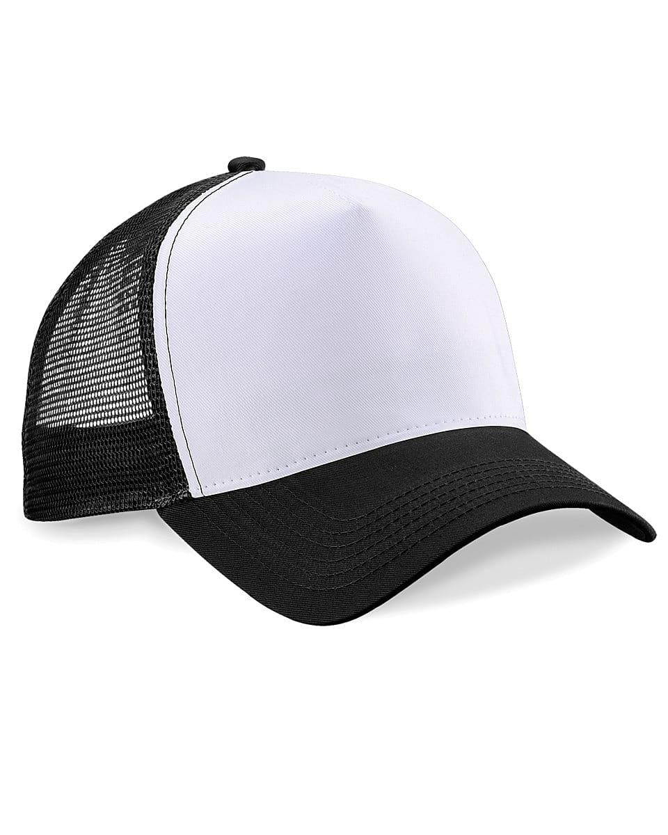 Beechfield Snapback Trucker Cap in Black / White (Product Code: B640)