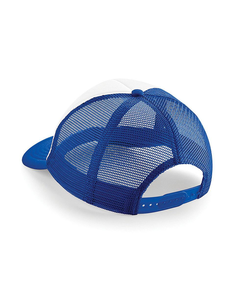 Beechfield Vintage Snapback Trucker Cap in Bright Royal / White (Product Code: B645)