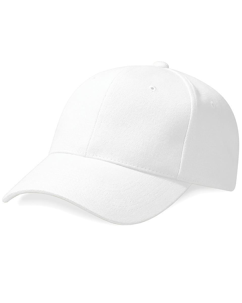 Beechfield Pro Style Heavy Cap in White (Product Code: B65)