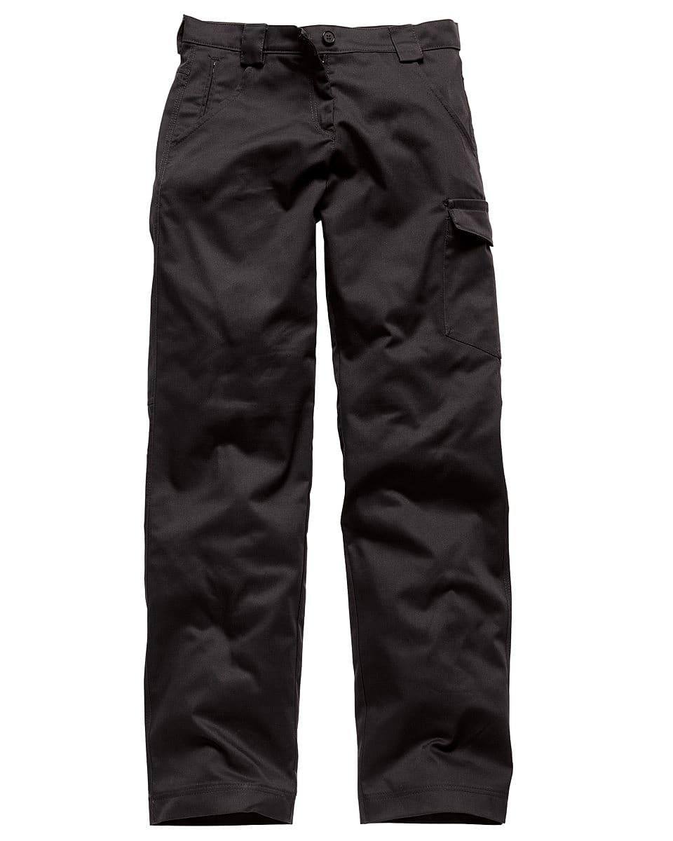 Dickies Womens Redhawk Trousers (Regular) in Black (Product Code: WD855)