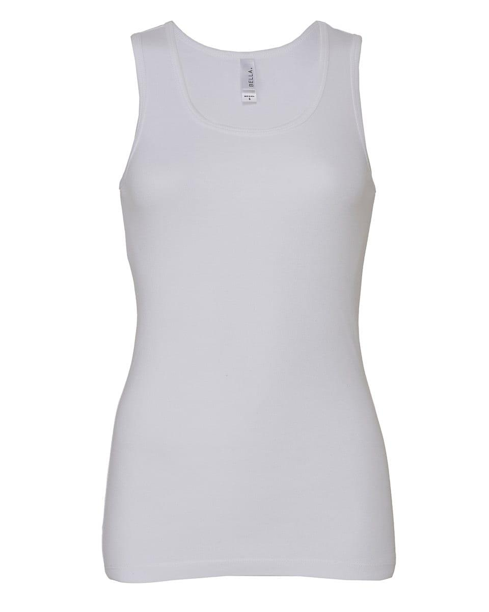 Bella Womens Tank Top in White (Product Code: BE1080)