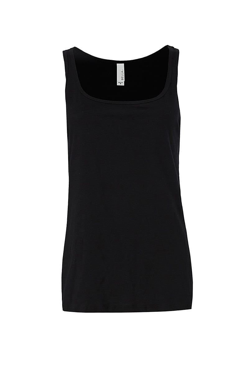 Bella Womens Relaxed Jersey Tank in Black (Product Code: BE6488)