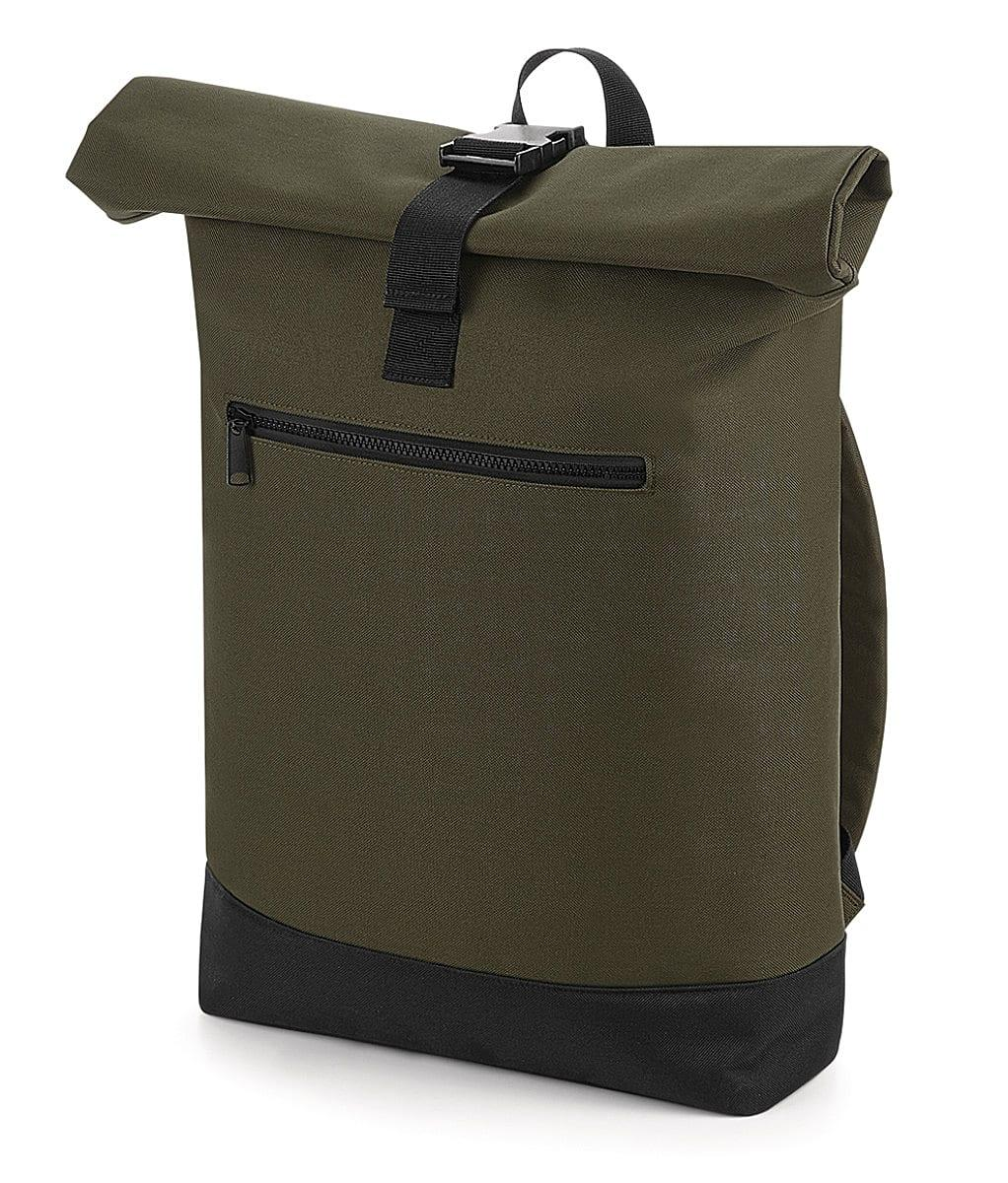 Bagbase Roll-Top Backpack in Military Green (Product Code: BG855)