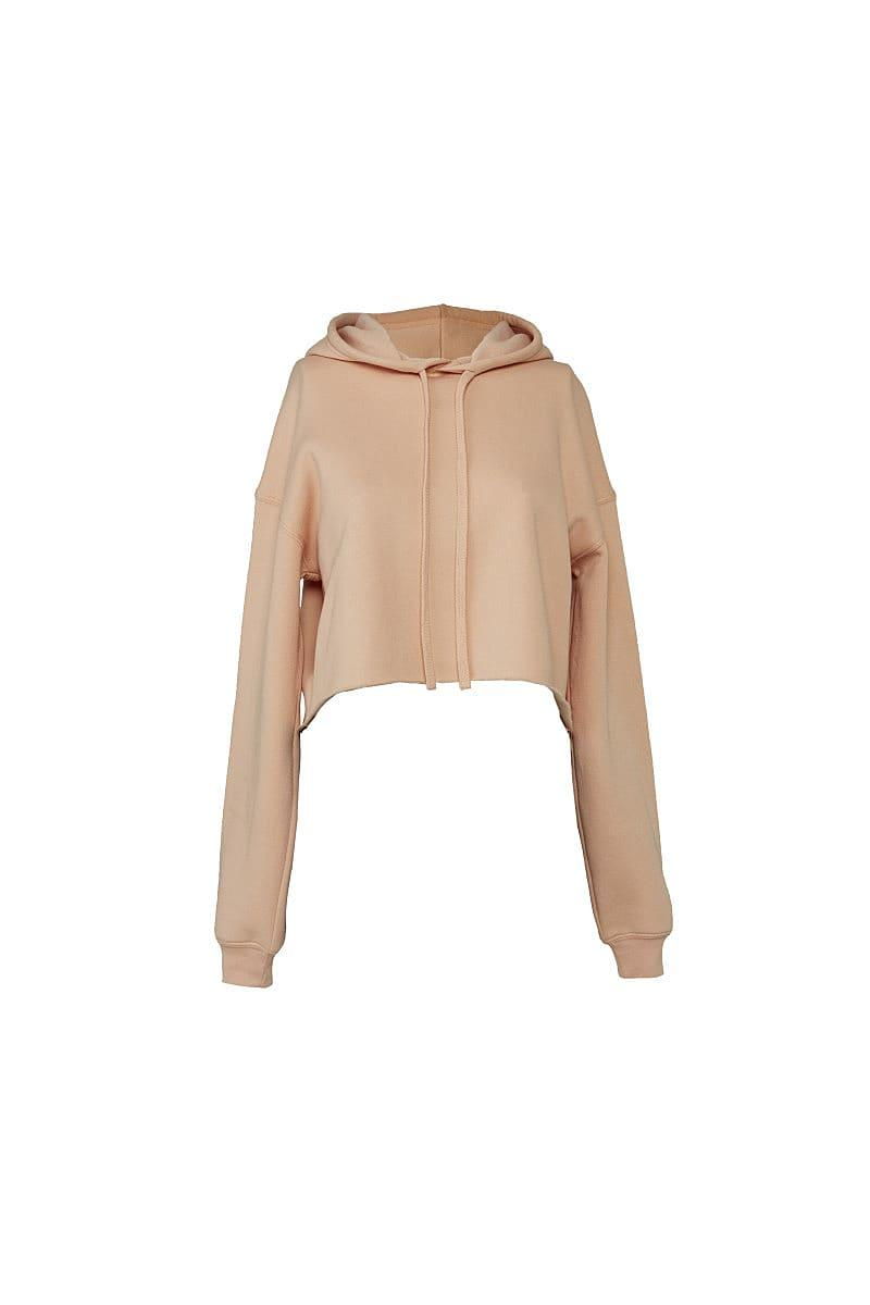 Bella+Canvas Womens Cropped Fleece Hoodie in Peach (Product Code: BE7502)