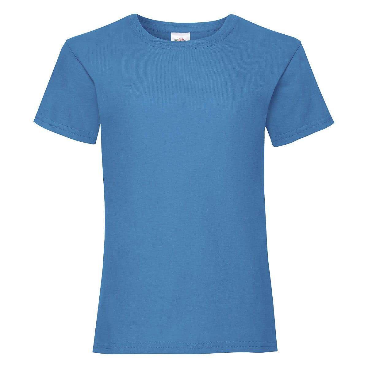 Fruit Of The Loom Girls Valueweight T-Shirt in Azure Blue (Product Code: 61005)