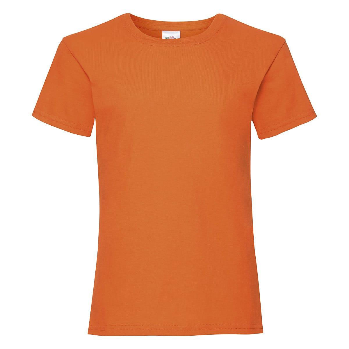 Fruit Of The Loom Girls Valueweight T-Shirt in Orange (Product Code: 61005)