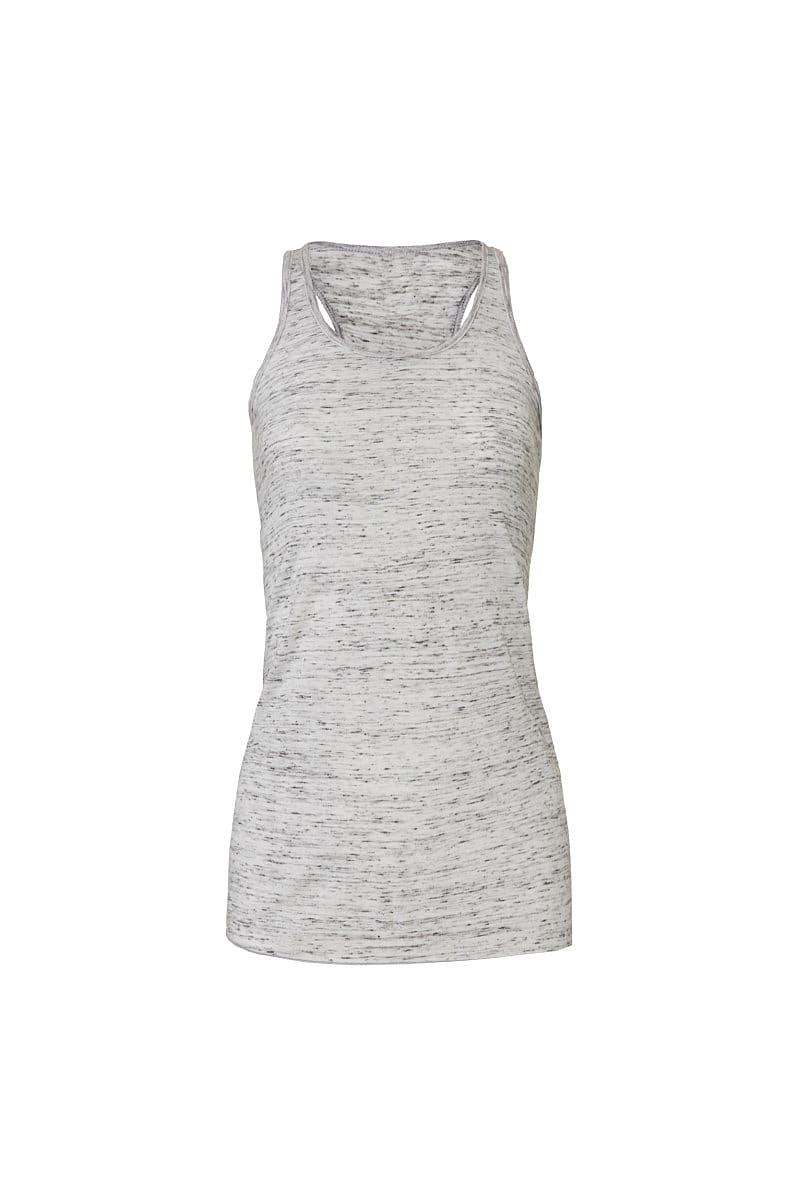 Bella Flowy Racerback Tank Top in White Marble (Product Code: BE8800)
