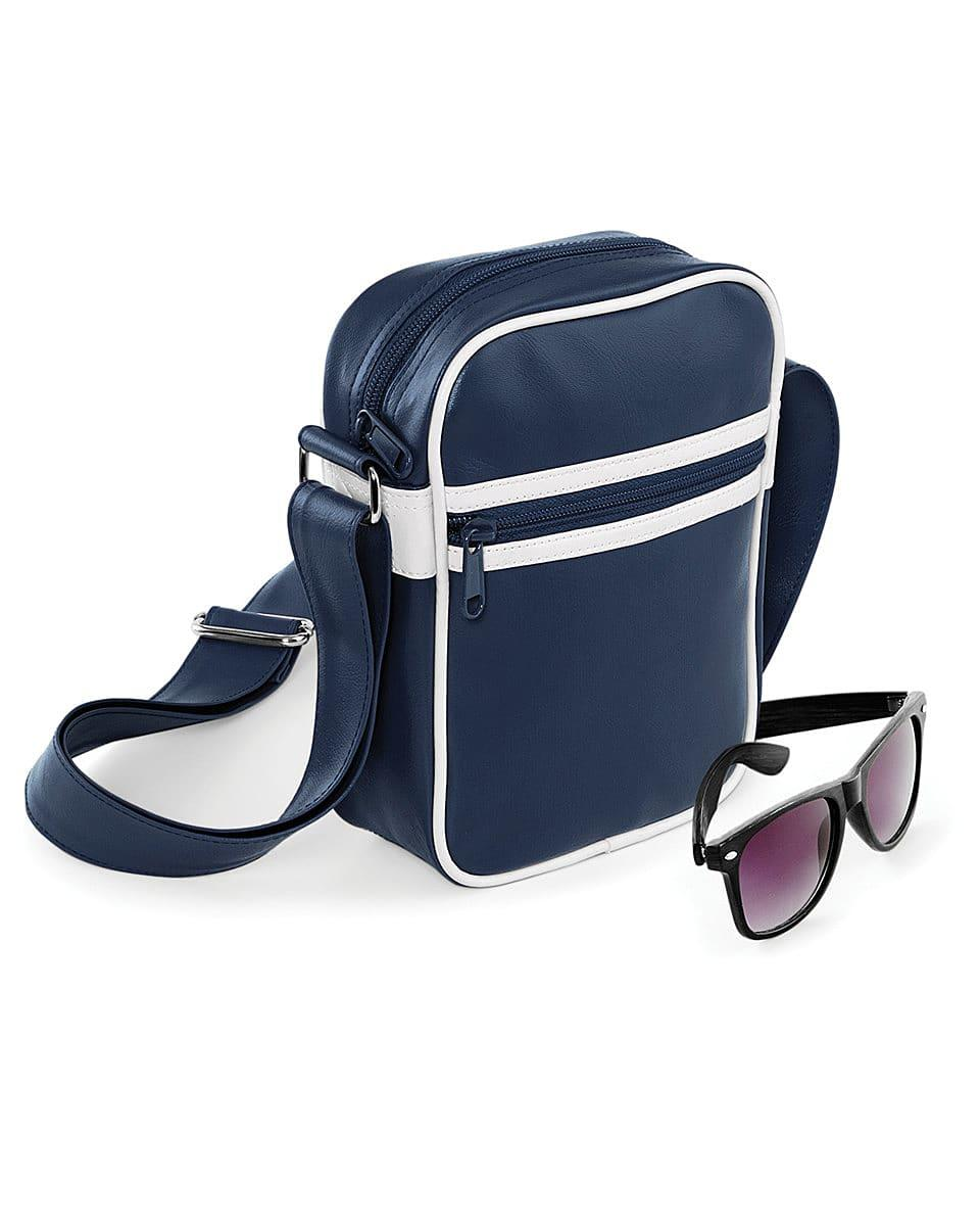 Bagbase Original Retro Across Body Bag in French Navy / White (Product Code: BG98)