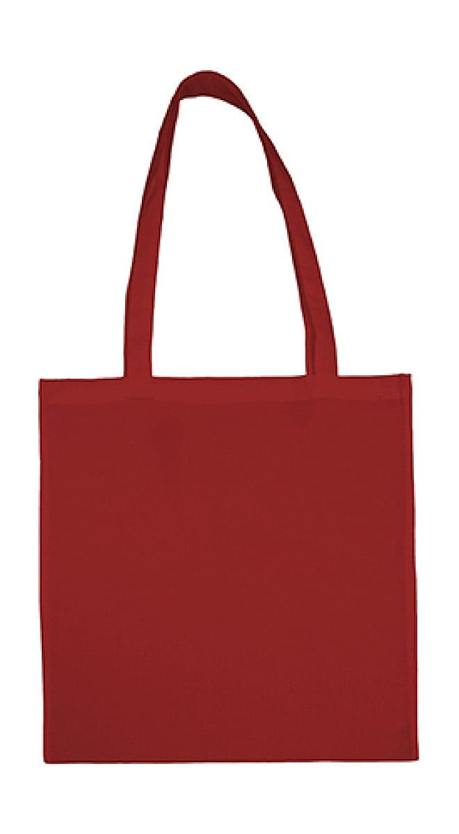 Jassz Bags Beech Cotton Long-Handle Bag in Red (Product Code: 3842LH)