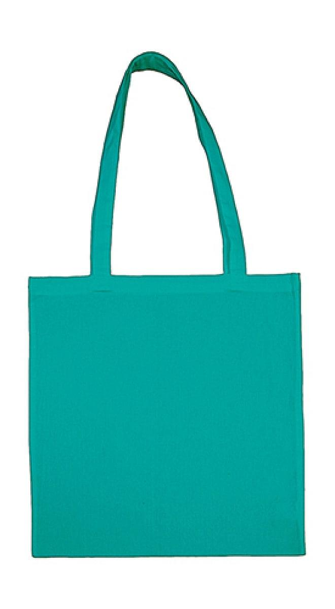 Jassz Bags Beech Cotton Long-Handle Bag in Turquoise (Product Code: 3842LH)