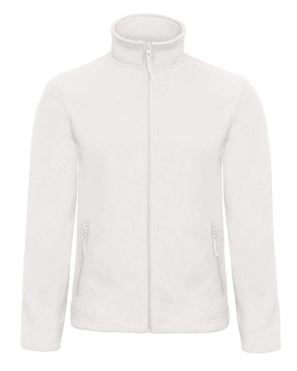 B&C Mens ID.501 Fleece Jacket in White (Product Code: FUI50)