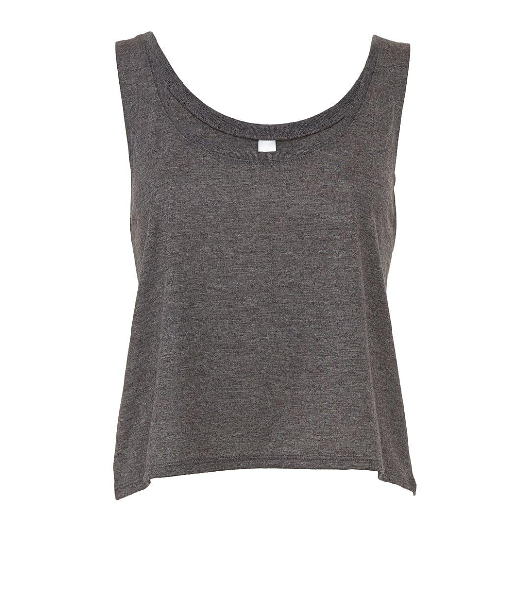 Bella Womens Flowy Boxy Tank in Dark Grey Heather (Product Code: BE8880)
