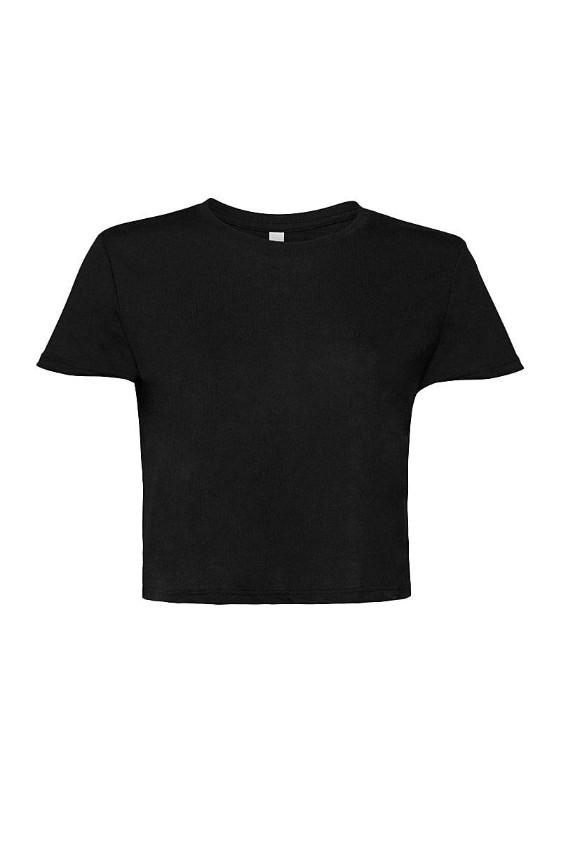 Bella+Canvas Womens Flowy Cropped T-Shirt in Black (Product Code: BE8882)