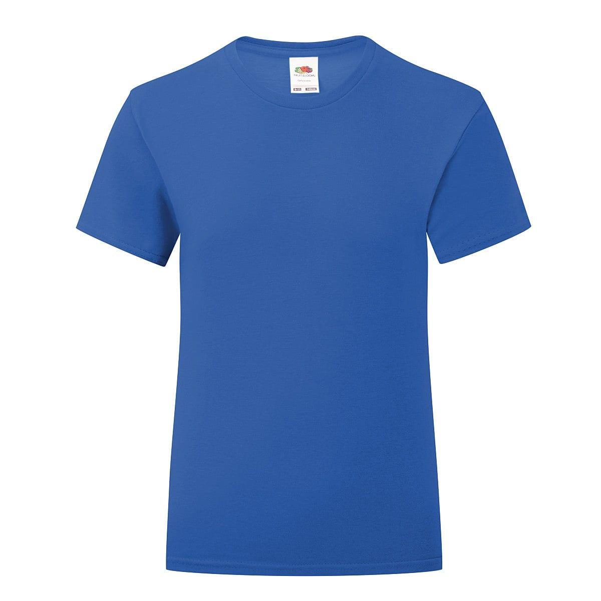 Fruit Of The Loom Girls Iconic T-Shirt in Royal Blue (Product Code: 61025)