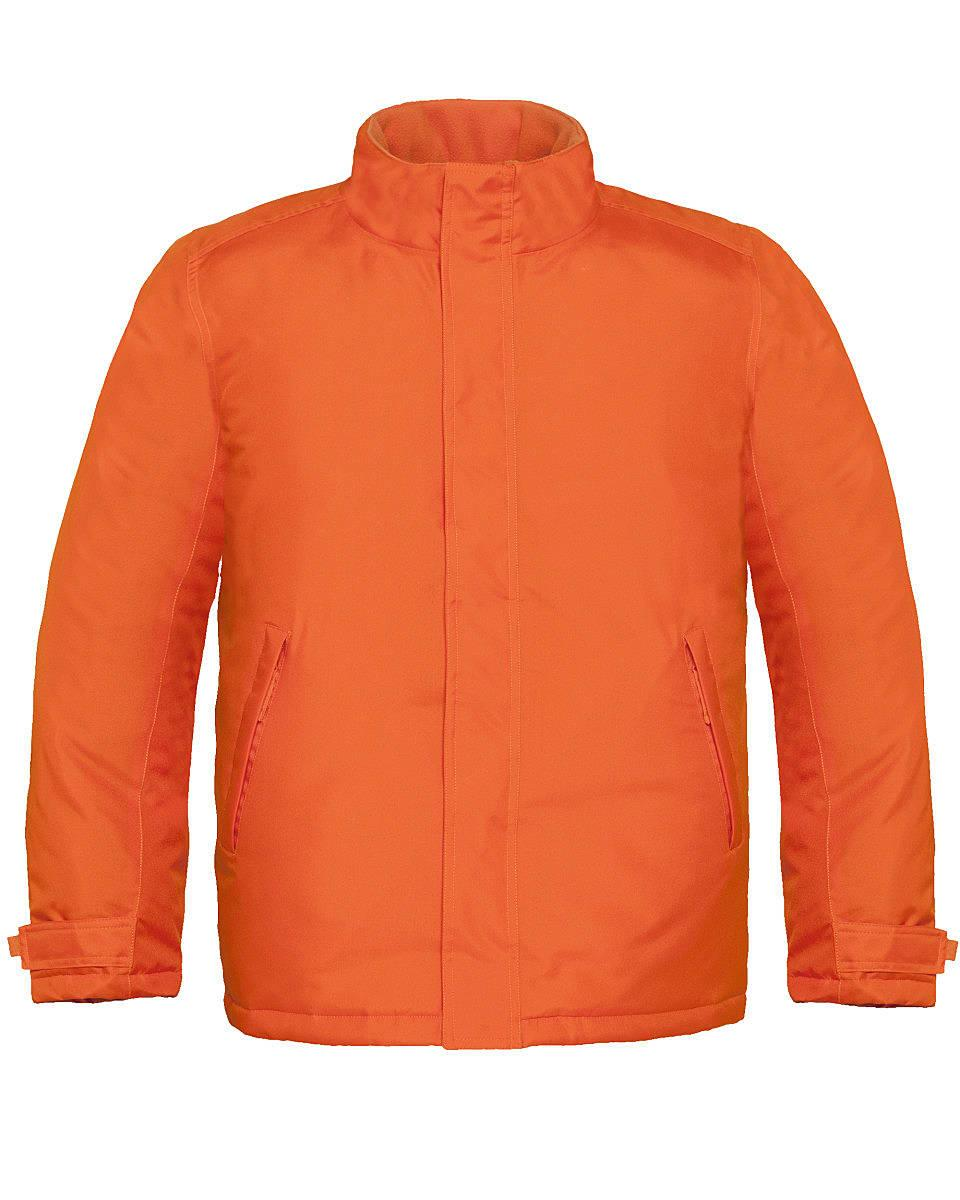 B&C Mens Real+ Jacket in Orange (Product Code: JM970)