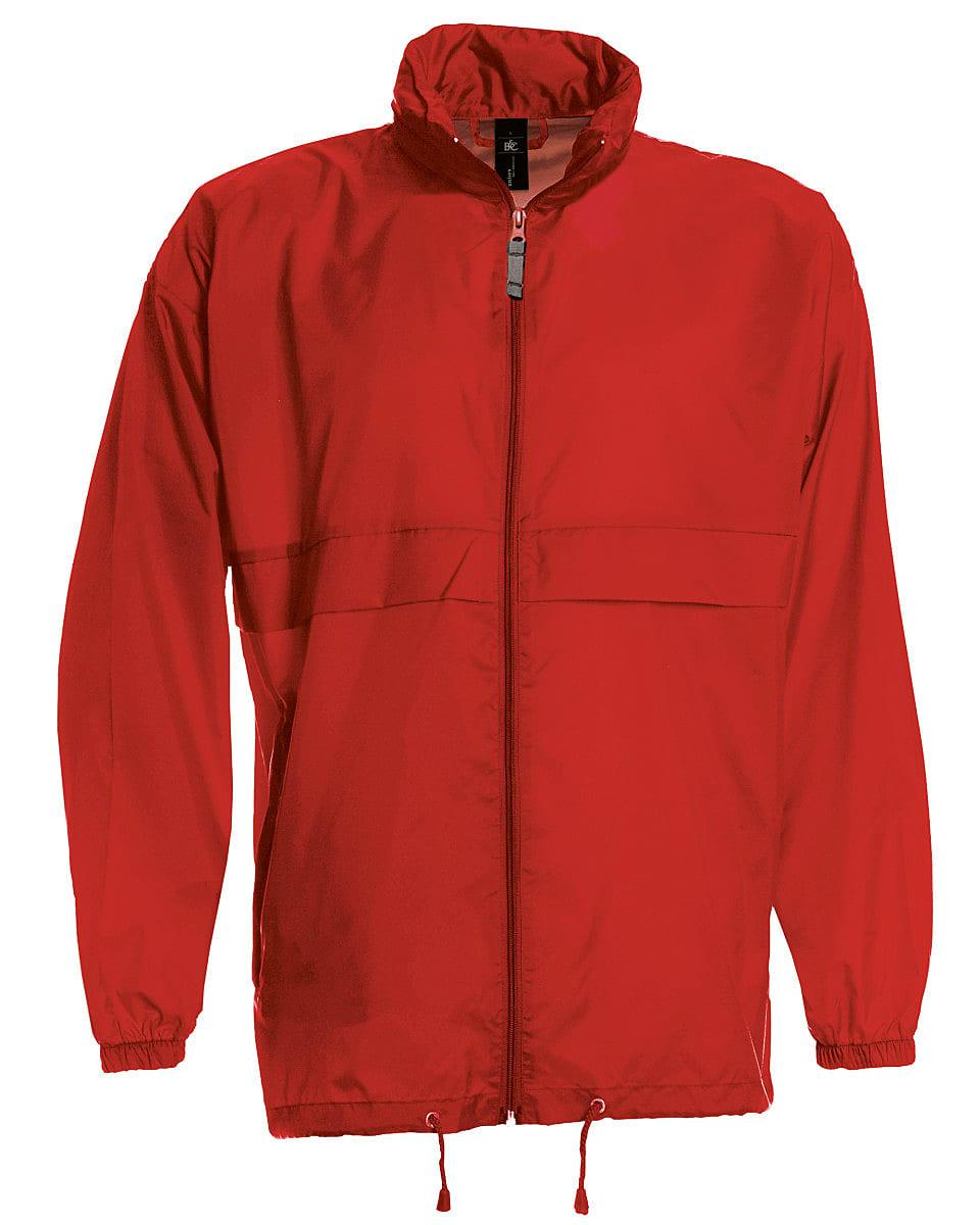 B&C Mens Sirocco Lightweight Jacket in Red (Product Code: JU800)