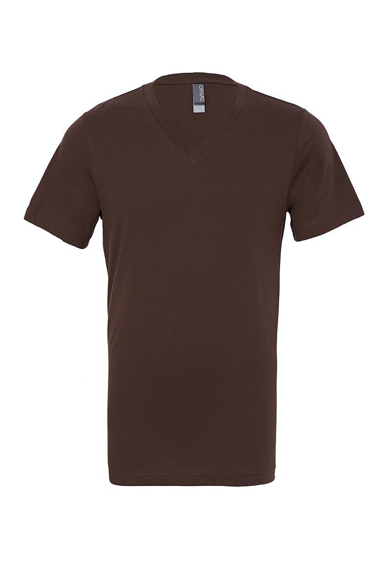 Bella Canvas Mens Jersey Short-Sleeve Vneck T-Shirt in Brown (Product Code: CA3005)