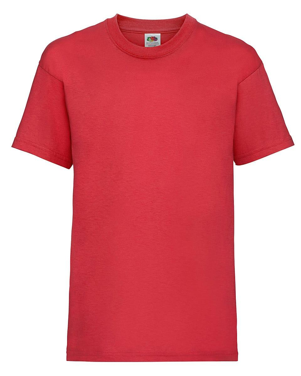 Fruit Of The Loom Childrens Valueweight T-Shirt in Red (Product Code: 61033)