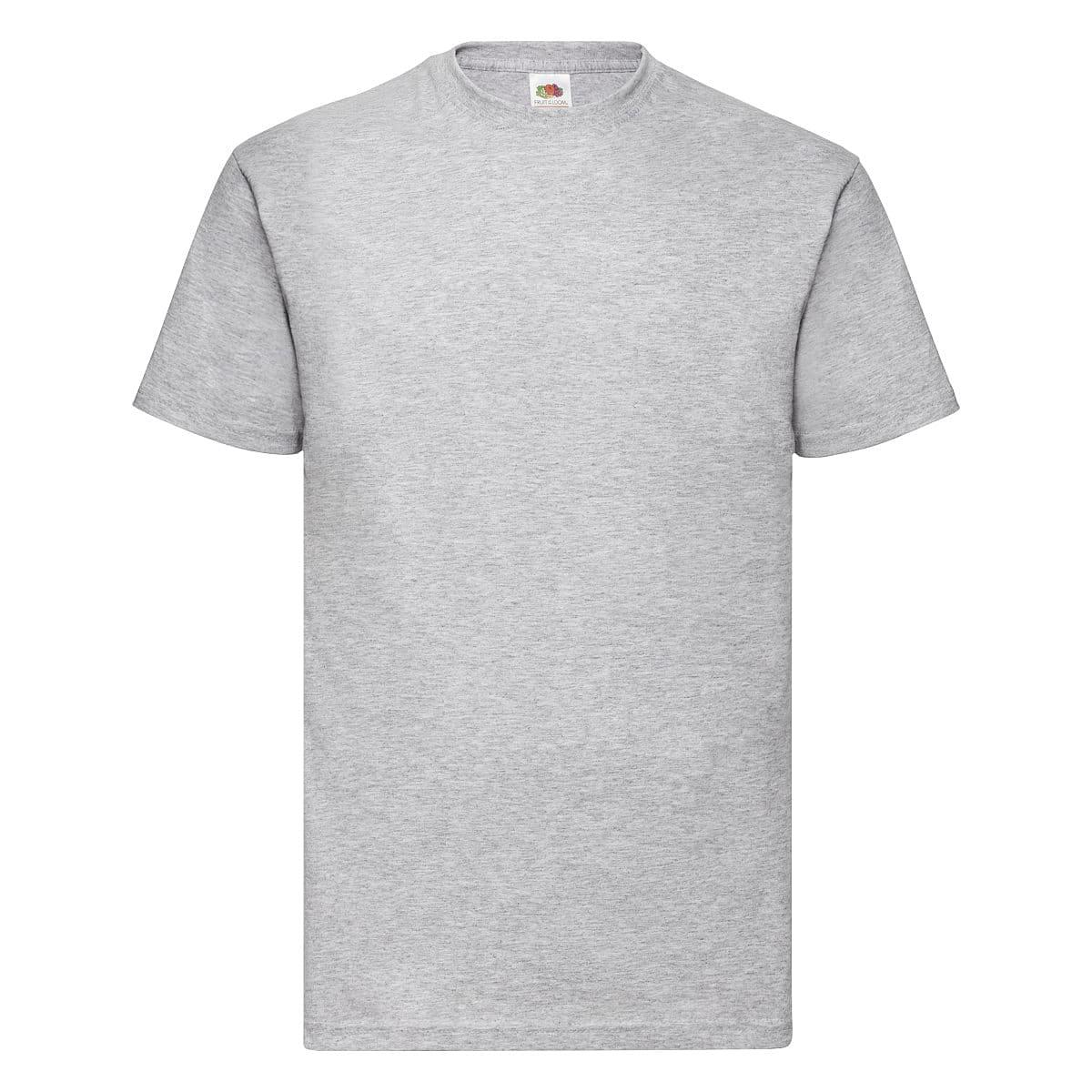 Fruit Of The Loom Valueweight T-Shirt in Heather Grey (Product Code: 61036)