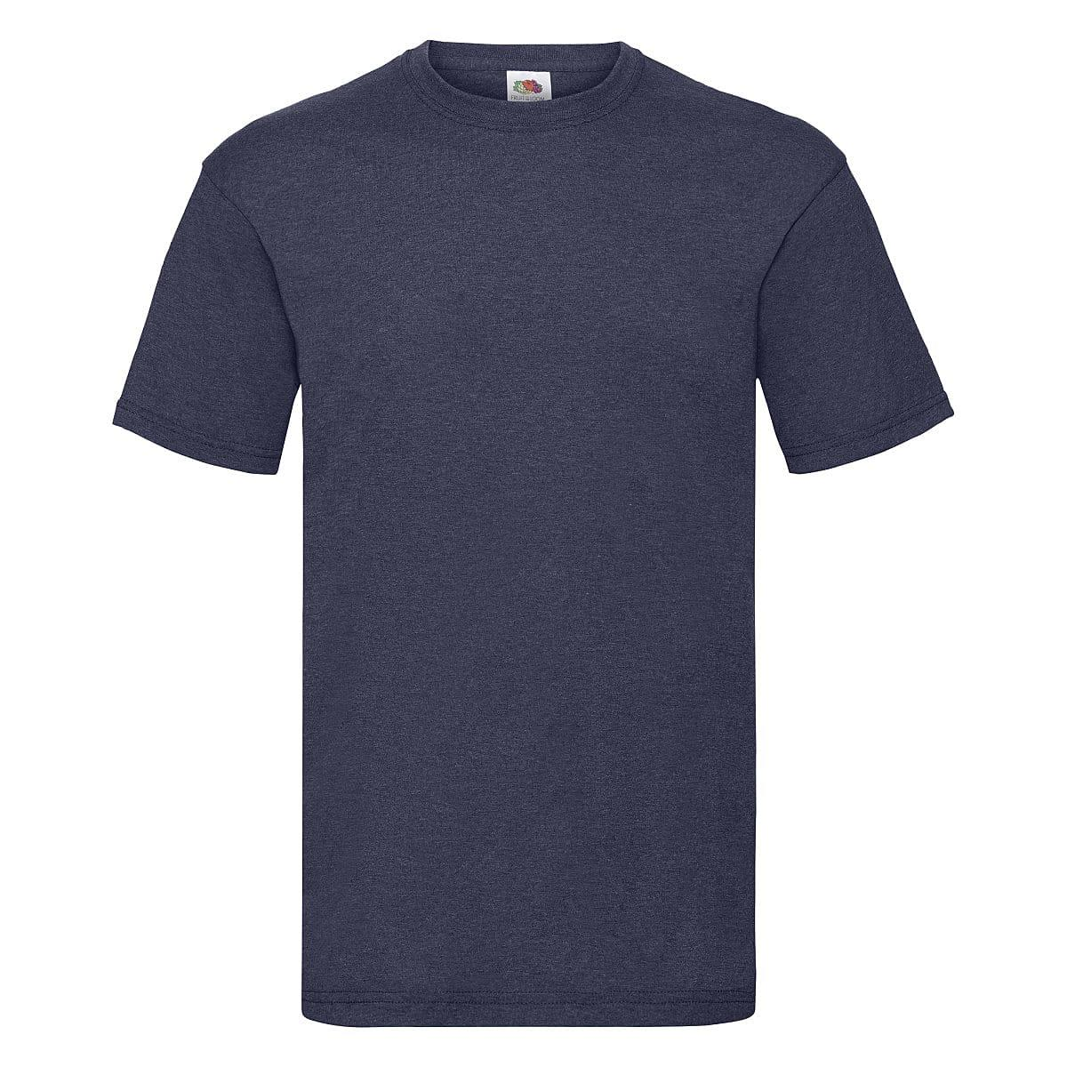 Fruit Of The Loom Valueweight T-Shirt in Vintage Heather Navy (Product Code: 61036)