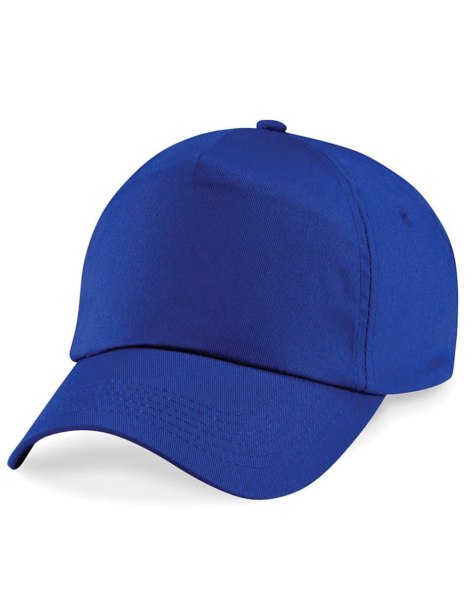 Beechfield Junior Original 5 Panel Cap in Bright Royal (Product Code: B10B)