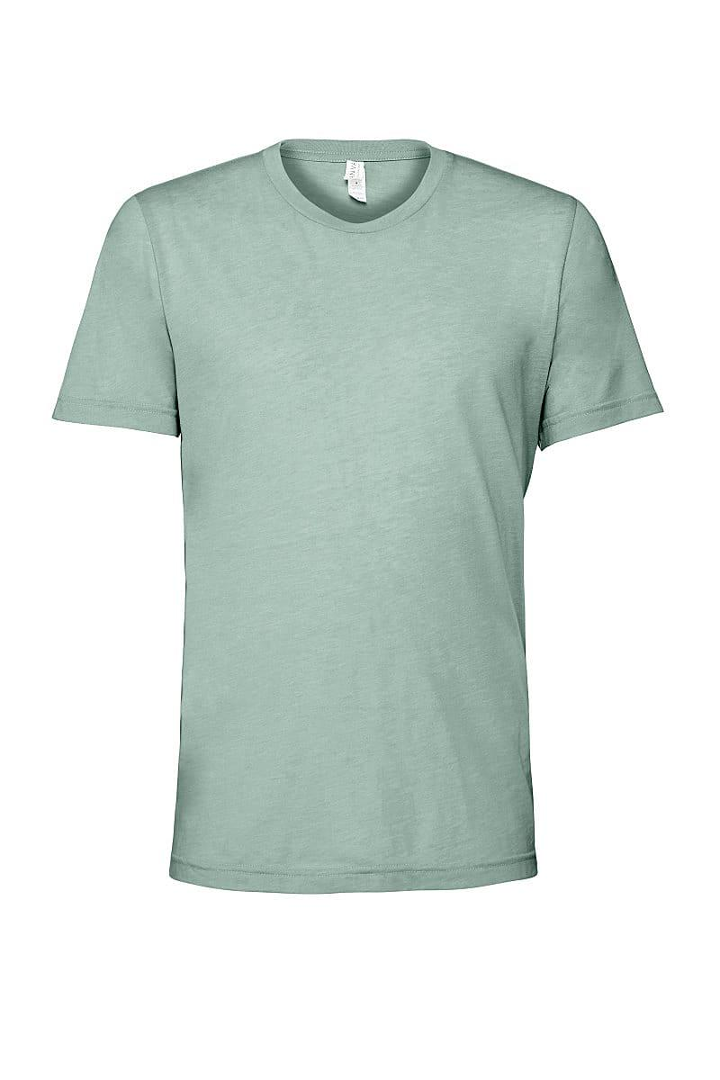 Bella Canvas Mens Tri-blend Short-Sleeve T-Shirt in Dusty Blue Triblend (Product Code: CA3413)