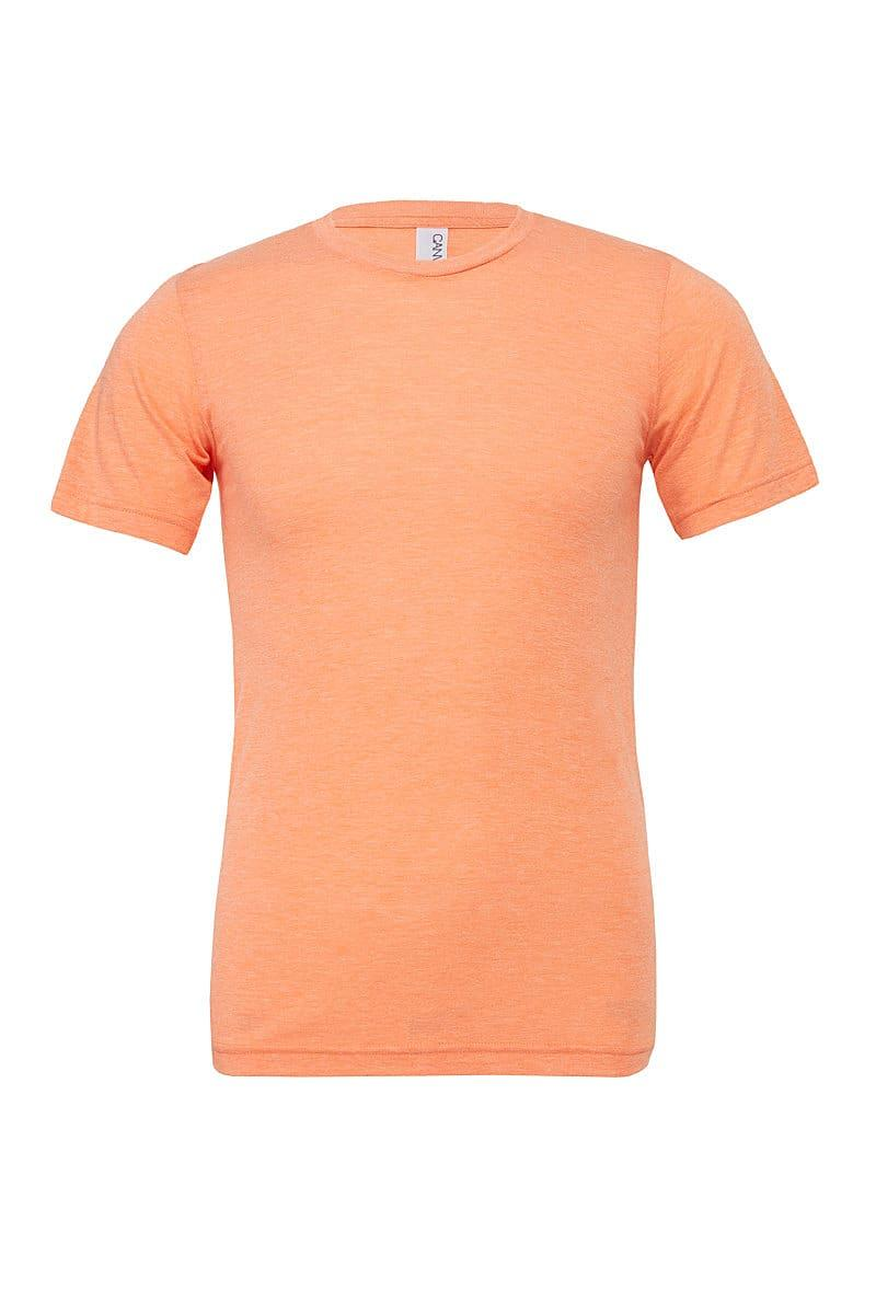 Bella Canvas Mens Tri-blend Short-Sleeve T-Shirt in Orange Triblend (Product Code: CA3413)