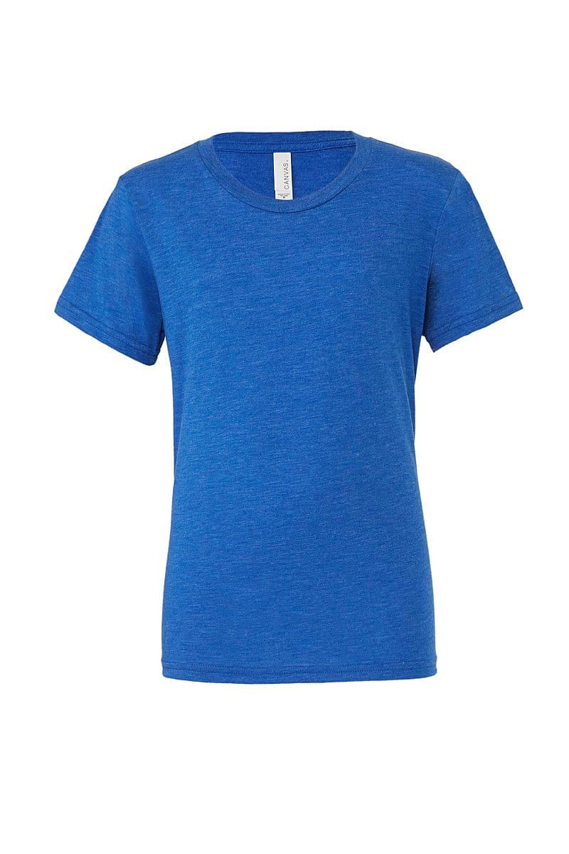 Bella Canvas Mens Tri-blend Short-Sleeve T-Shirt in True Royal Triblend (Product Code: CA3413)