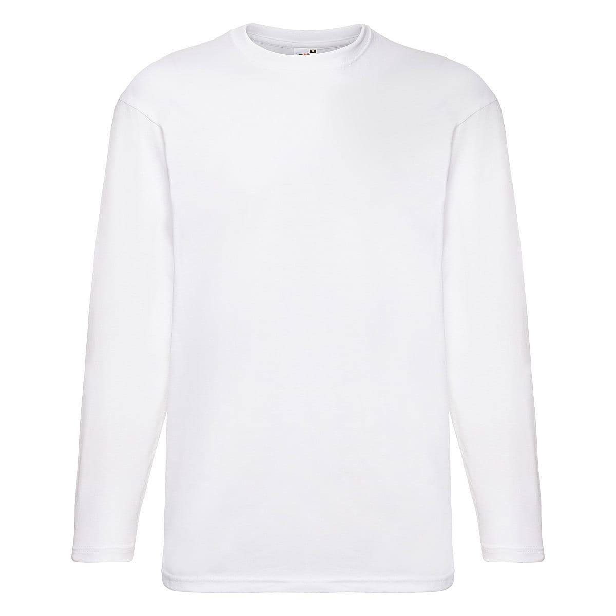 Fruit Of The Loom Valueweight Long-Sleeve T-Shirt in White (Product Code: 61038)