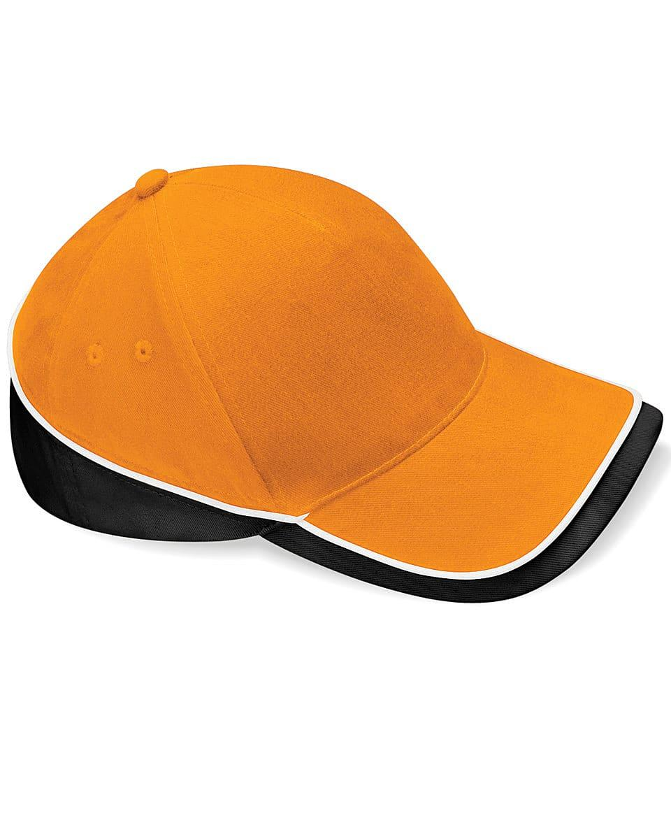 Beechfield Teamwear Competition Cap in Orange / Black / White (Product Code: B171)
