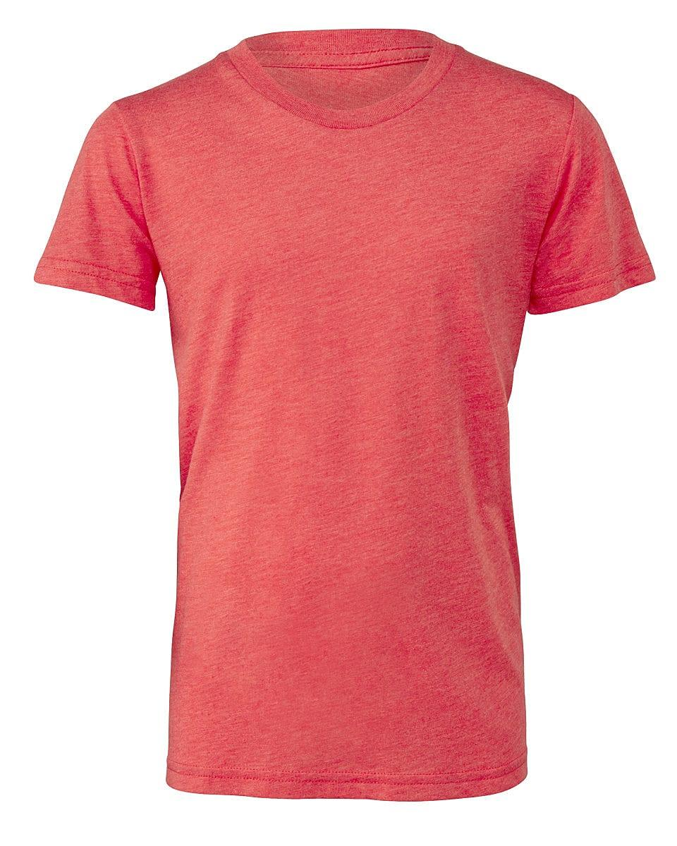 Bella Canvas Youth Triblend Short-Sleeve T-Shirt in Red Triblend (Product Code: CA3413Y)