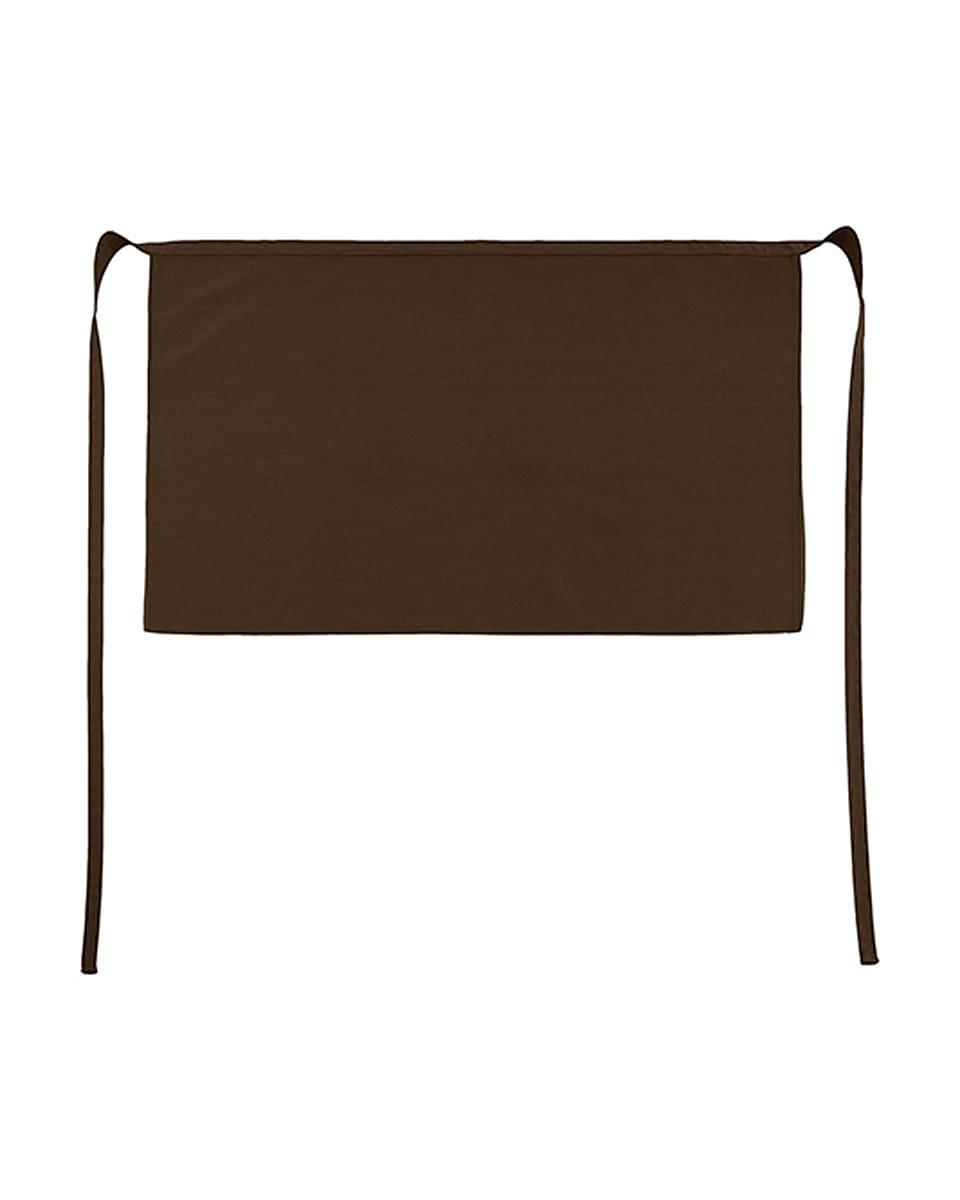 Jassz Bistro Brussels Short Apron in Brown (Product Code: JG14)