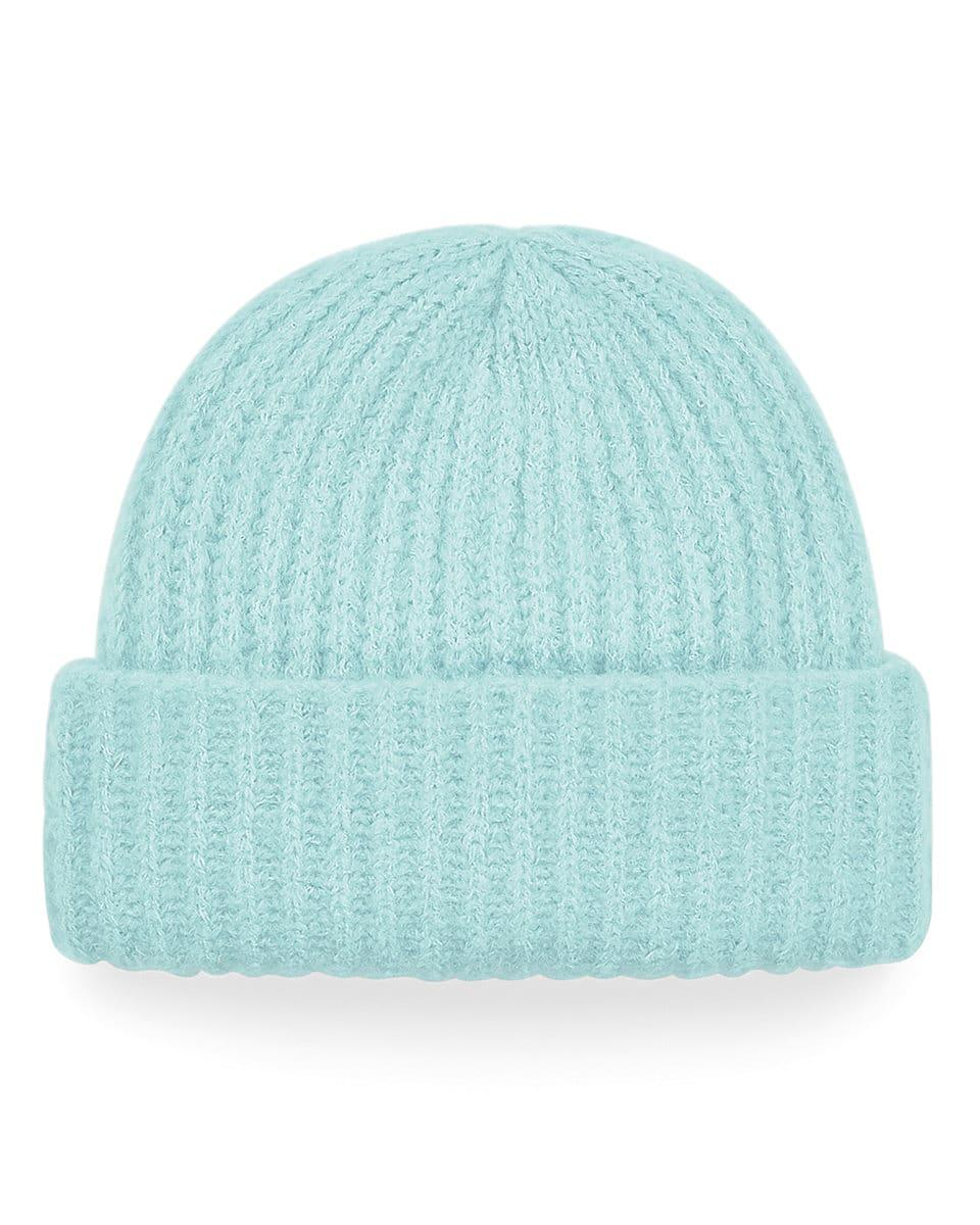 Beechfield Plush Beanie Hat in Soft Mint (Product Code: B418)