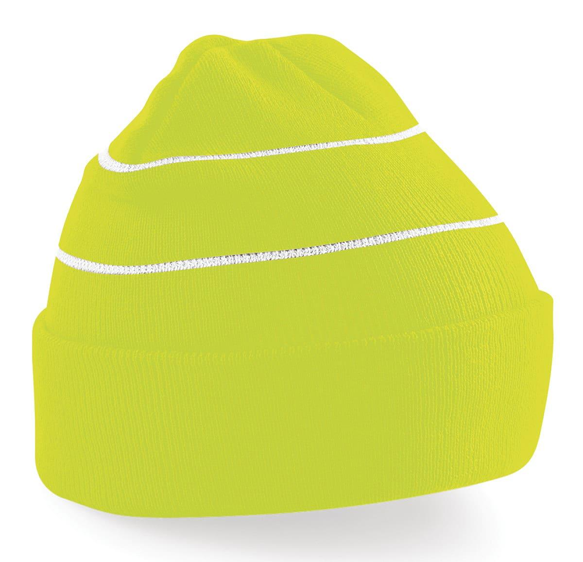 Beechfield Enhanced-Viz Knitted Hat in Fluorescent Yellow (Product Code: B42)