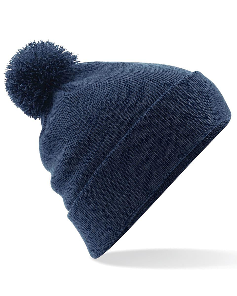 Beechfield Original Pom Pom Beanie Hat in French Navy (Product Code: B426)