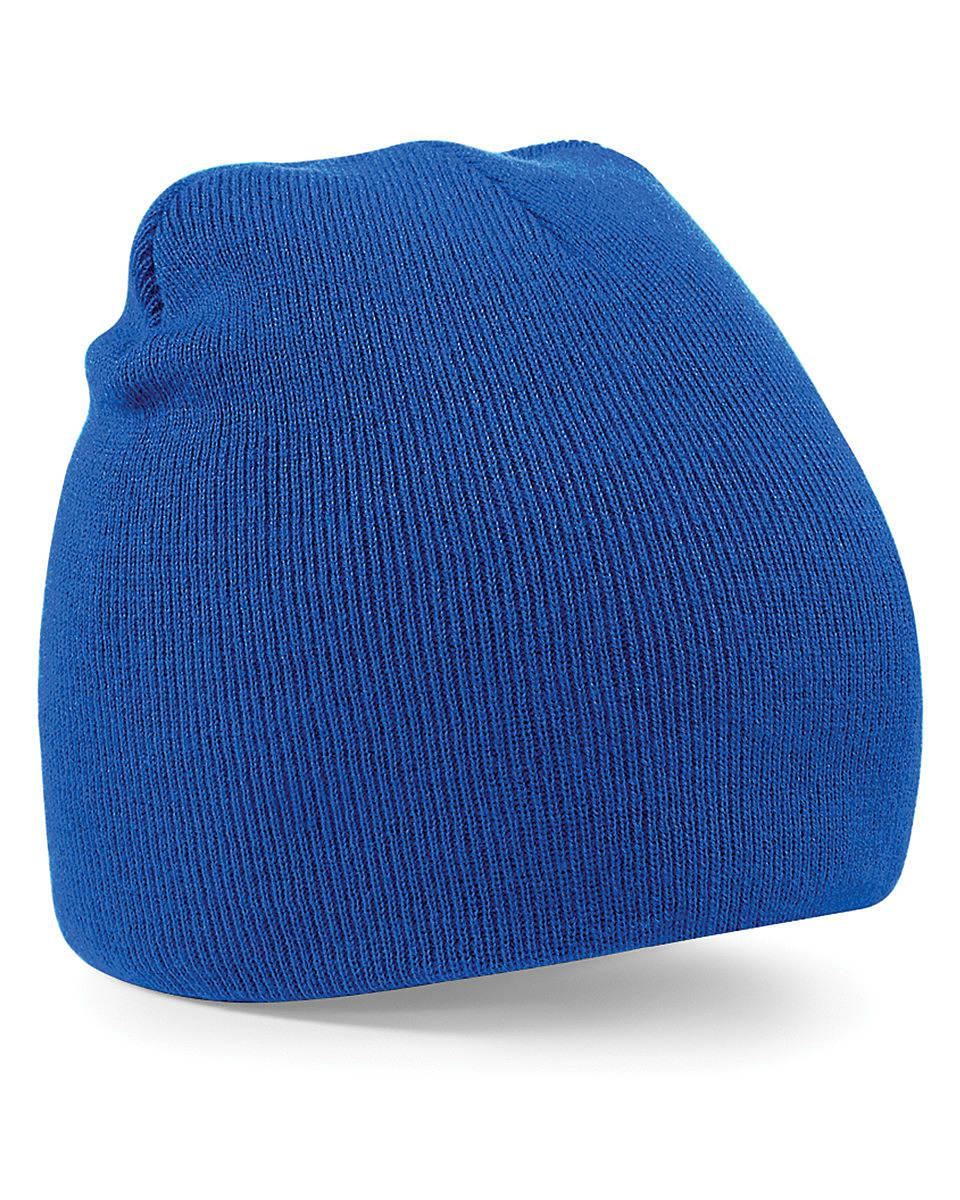 Beechfield Original Pull-On Beanie Hat in Bright Royal (Product Code: B44)