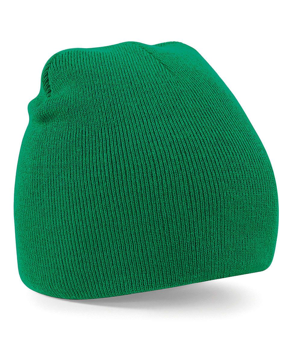 Beechfield Original Pull-On Beanie Hat in Kelly Green (Product Code: B44)
