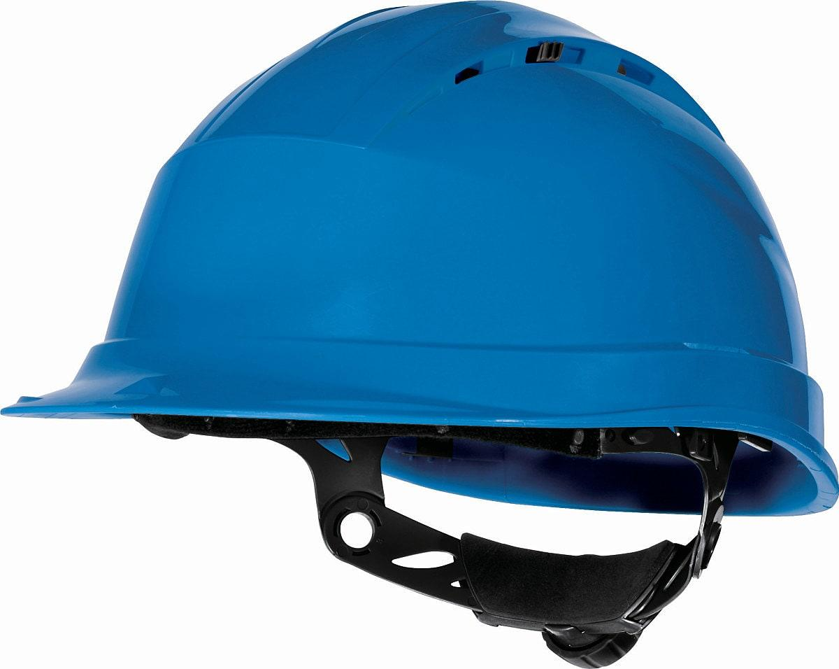 Delta Plus Quartz Rotor Safety Helmet in Blue (Product Code: QUARTZ4)
