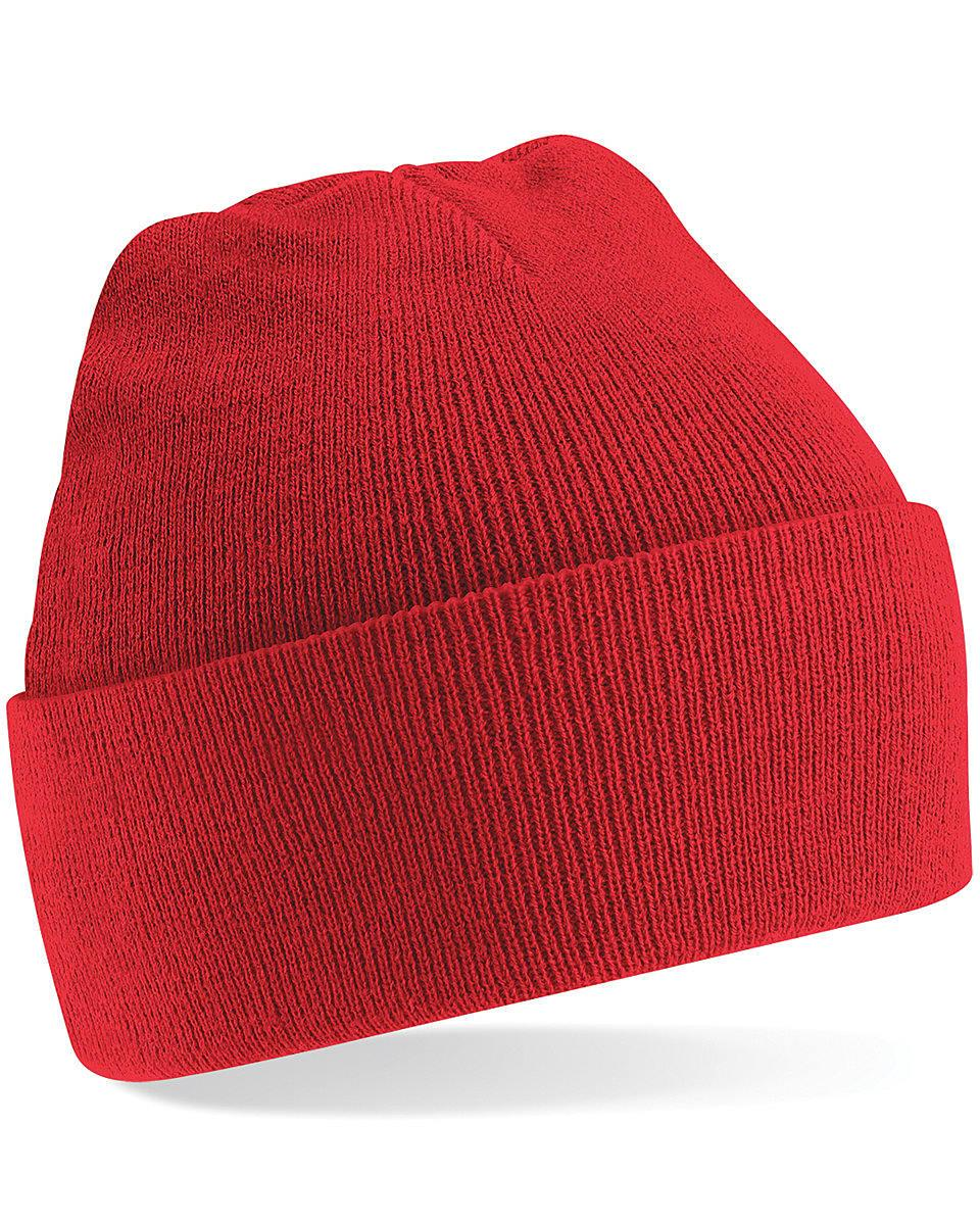 Beechfield Original Cuffed Beanie Hat in Bright Red (Product Code: B45)