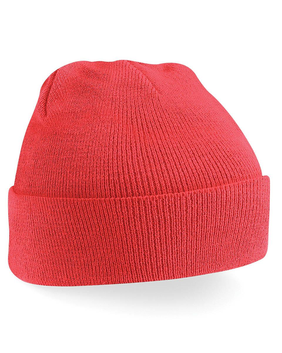Beechfield Original Cuffed Beanie Hat in Coral (Product Code: B45)