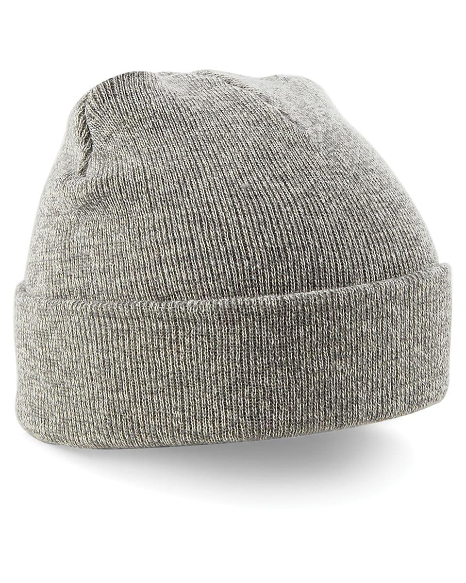 Beechfield Original Cuffed Beanie Hat in Heather Grey (Product Code: B45)