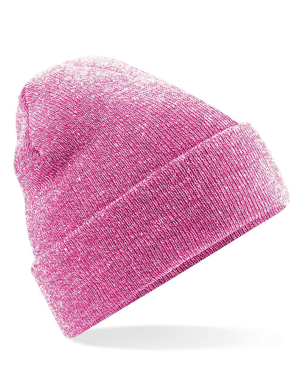 Beechfield Original Cuffed Beanie Hat in Heather Pink (Product Code: B45)