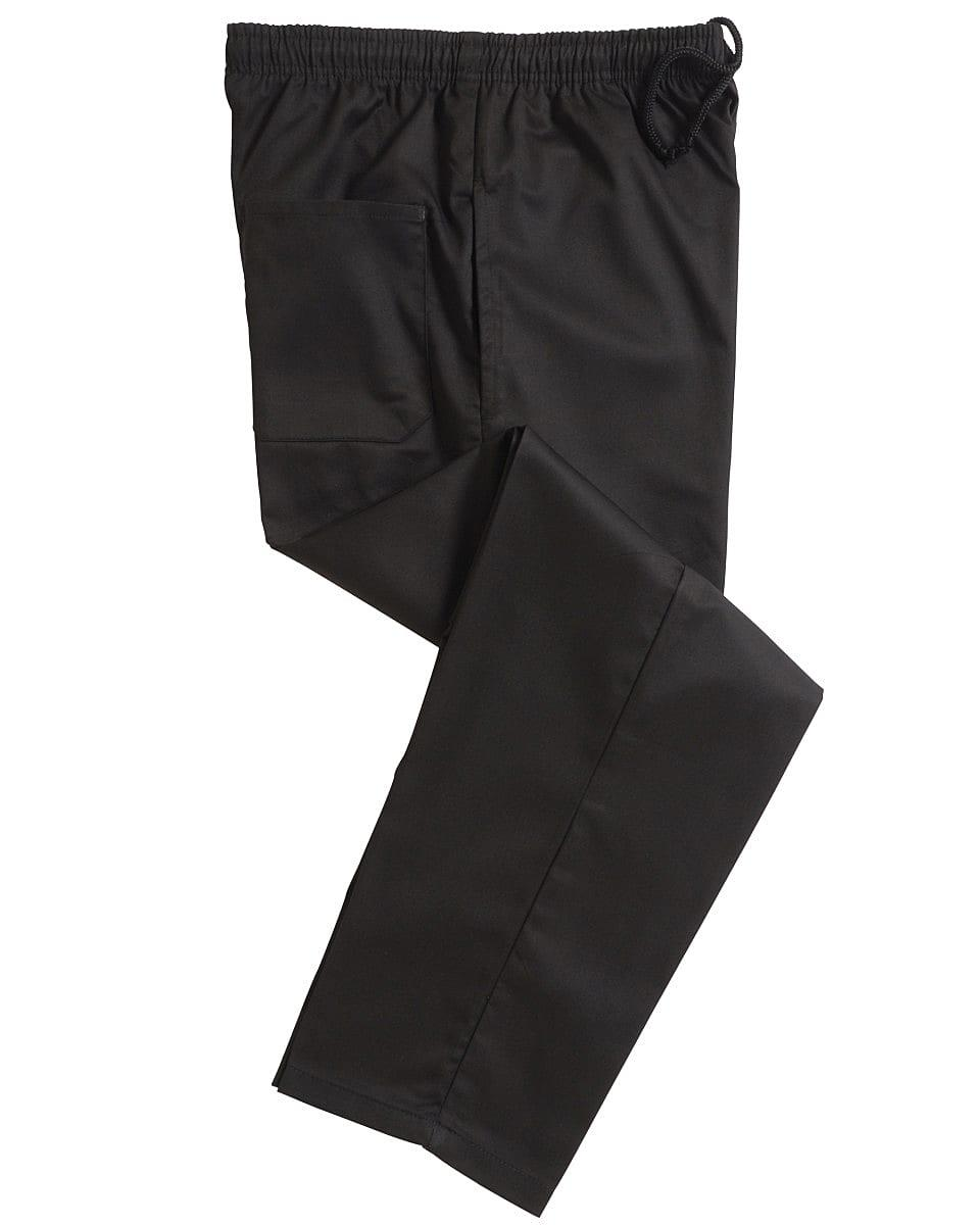 Dennys Black Elasticated Trousers in Black (Product Code: DC18B)