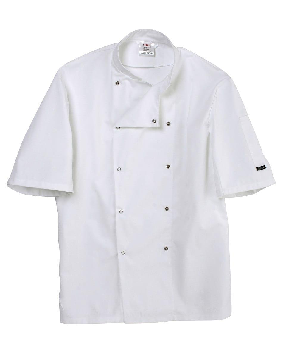 Dennys Short-Sleeve Chefs Jacket in White (Product Code: DD08S)